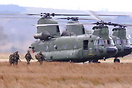 Dutch Chinooks D-101 & D662 drop Combat troops during Exercise 'Tac Bl...