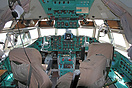 The cockpit of the Ilyushin IL-62