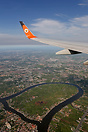 After take-off runway 21 from Don Mueang (DMK/VTBD) and turn right to ...