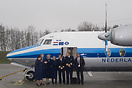 Fokker Heritage Flight - The crew proudly poses in front of their beau...