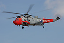 771 NAS Culdrose based Sea King HU.5SAR departing from the Yeovilton A...