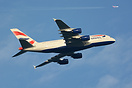 British Airways Airbus A380-841 together with Air Berlin B737-800 D-AB...