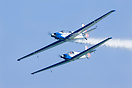 Blue Voltige is an Italian acrobatic team. They use two motor gliders ...
