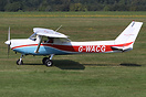 This Cessna 152 G-WACG and a Guimbal Cabri G2 helicopter G-JAMM were i...