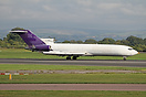 This Boeing 727F G-OSRA formerly operated for Federal Express as a fre...