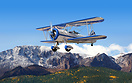 Composite image. Stearman N2S-1 Kaydet a biplane used as a military tr...