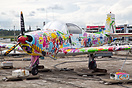 Children's art project on the rooftop of the Stuttgart Airport Termina...