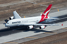 A smooth touchdown for Qantas 11 after arriving from Sydney. VH-OQJ na...