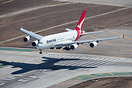 Over the numbers after the long flight from Sydney Qantas 11 is soon t...