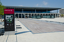 Open plaza in front of the new terminal of the still to open Berlin Br...