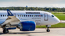 Bombardier's Cseries taxies for its maiden flight.