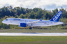 Bombardier's CS100 lifts off for the first time.
