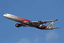 This Etihad A340-600 in special Formula 1 scheme, performed a flypast ...