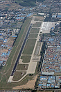 An aerial view of Nanyuan Airport, Beijing. The main operator at this ...