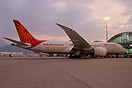 Ready for departure to Delhi under sunset