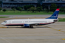 Still in basic US Airways colours