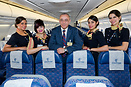 Captain Hossam Kamal, Chairman and CEO of Egyptair and active pilot on...