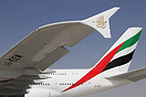 Brand new Emirates Airbus A380 A6-EEM on display at Dubai Airshow 2013...