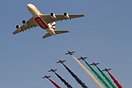 This new Airbus A380 A6-EEO peformed a flypast at Dubai Airshow with U...