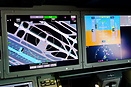 Navigation Display (ND) and Primary Flight Display (PFD) on the copilo...
