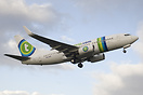 First take off on a revenue flight of PH-XRV in Transavia's new colour...
