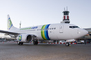 Transavia's new colour scheme shortly after arriving at Rotterdam Airp...