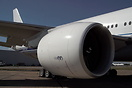 Close up of the GE90-90B engine