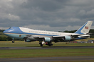 Air Force 2 arriving for the G8 Summit