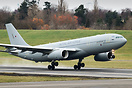 RAF Airbus A330 Voyager KC3 ZZ333 departs Birmingham following attenti...