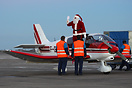 Santa Claus came to town for Airport's kids.