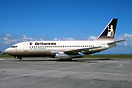 Britannia Airways Boeing B737-200 G-BHWF on lease to Air New Zealand.