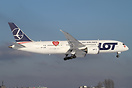 "LOT's Boeing 787 SP-LRB received ""The great orchestra of Christmas cha..."