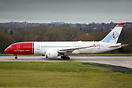Norwegian Dreamliner EI-LNB was the first Boeing 787 to receive attent...