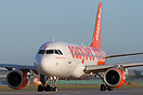 This Easyjet Airbus A319 carries extra Unicef titles.