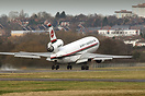 The last remaining passenger DC-10 departs Birmingham for one of the s...