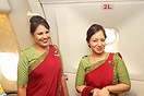 Cabin crew on board one of the special farewell flights organised by B...
