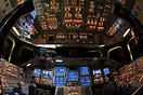 "The glass cockpit of the space shuttle orbiter ""Endeavour"" which was t..."