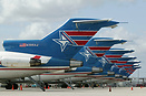 Seven Amerijet International 727 freighters working for a living on th...