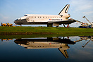 "Space shuttle ""Endeavour"" on her death march to Orbiter Processing Fac..."