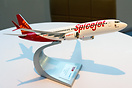 A model of the Boeing 737 MAX 8 in Spicejet livery. Spicejet and Boein...