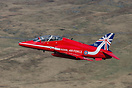 British Aerospace Hawk T1A XX219 in the new 2014 Red Arrows 50th seaso...