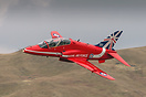 British Aerospace Hawk T1A XX245 in the new 2014 Red Arrows 50th seaso...