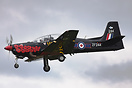 Newly out of the paint shop the RAF 2014 Display scheme Tucano seen he...