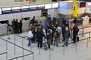 Check-in opens for Monarch Airlines flight ZB300 from London Gatwick t...