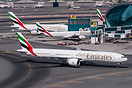 Taxing inboud for parking, with a company A340-500 and A380-800 parked...
