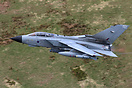 RAF Panavia Tornado GR4 ZA462 from Marham powers out of low-level duri...