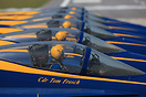 The 2014 US Navy Blue Angels Flight Demonstration team sits in the res...