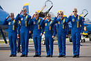 The 2014 US Navy Blue Angels Flight Demonstration Team. [Left to right...