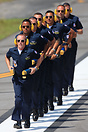 The 2014 US Navy Blue Angels Flight Demonstration Team ground crew.