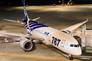 ANA's and the worlds first delivery 787-8 sits on the ramp at Haneda p...